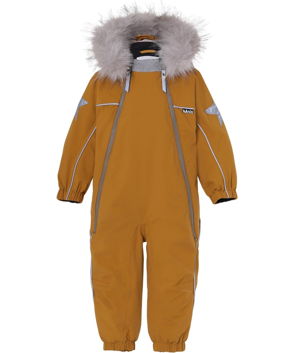 Pyxis Fur Recycle - Autumn Leaf - Recycled mustard coloured fur snowsuit
