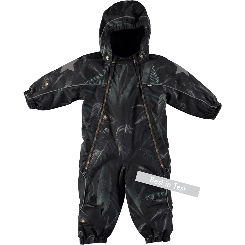 Pyxis - Jungle Eyes - Functional baby snowsuit with digital jungle eyes print