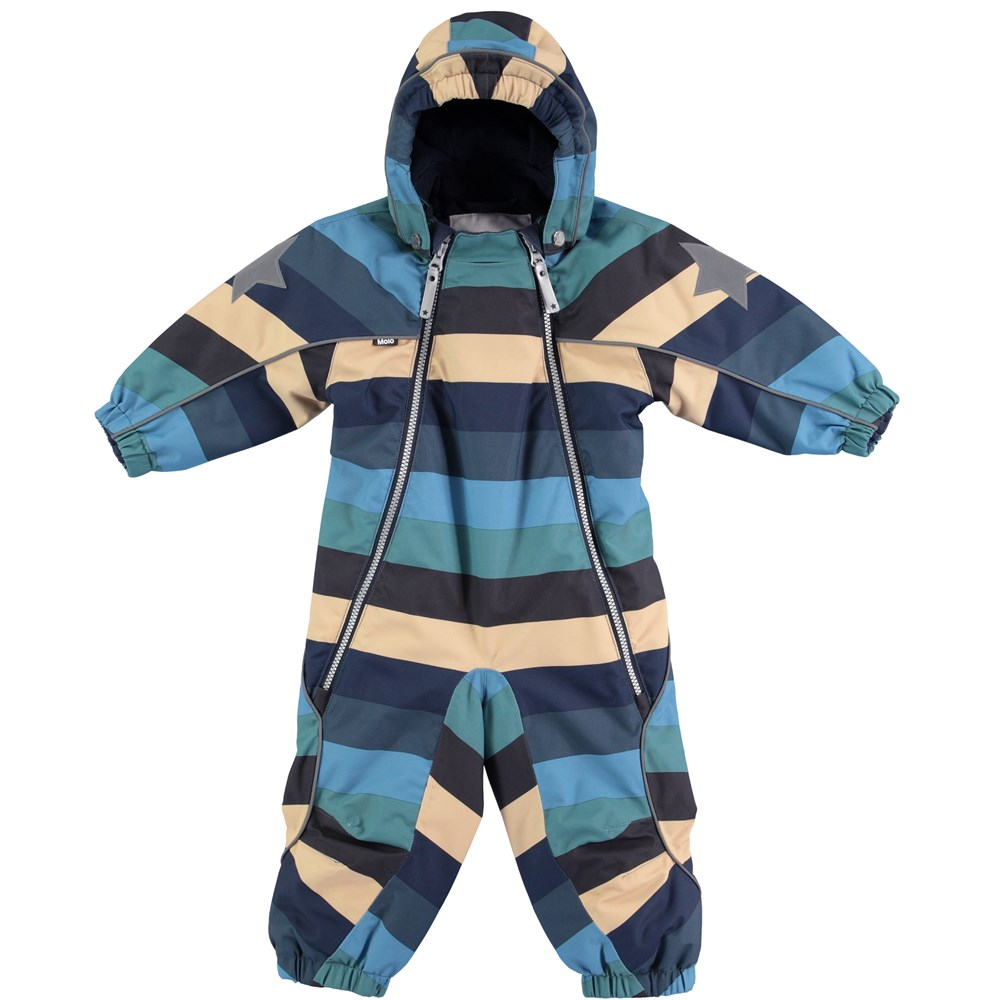 Pyxis - Ocean Stripe - Snowsuit with stripes