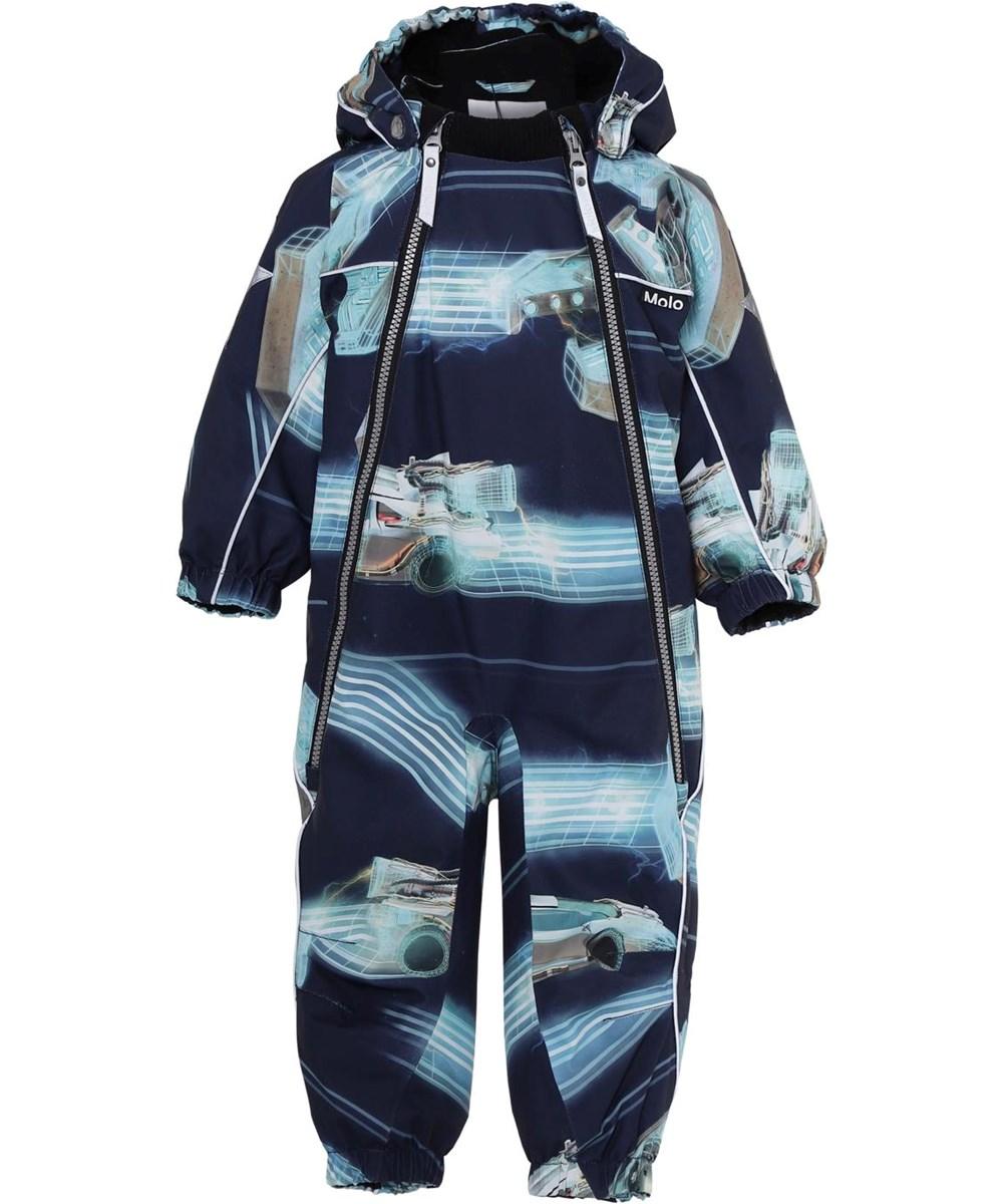 Pyxis - Past Now Future - Baby snowsuit futuristic print