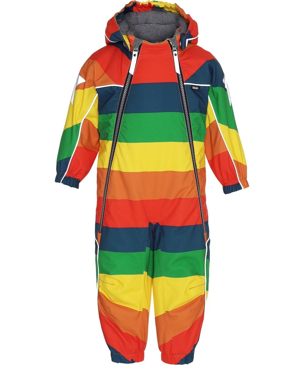 Pyxis - Rainbow - Rainbow coloured snowsuit.