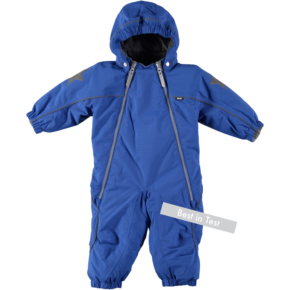 Pyxis - Real Blue - Functional, blue baby snowsuit
