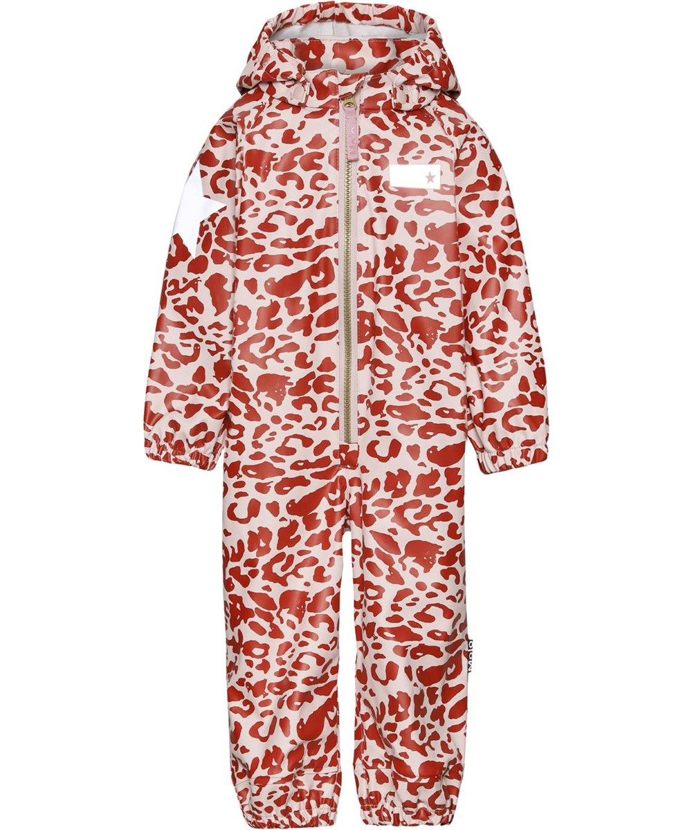 Wake - Leo Red - Red and rose leopard rain suit