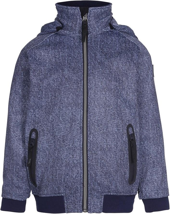 192de84dcb0 Cloudy - Denim - Sporty softshell jakke med denim digitalprint - Molo