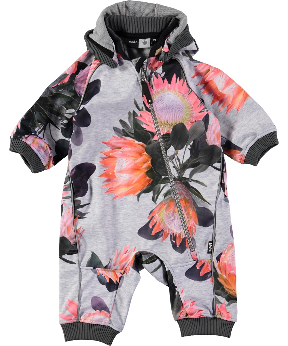 f1c214ff3a4 Hill - Sugar Flowers - baby softshell dragt med blomster - Molo