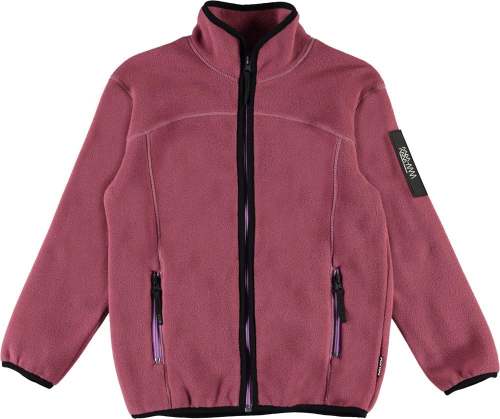 Urbano - Maroon - Mørke rosa fleecejakke