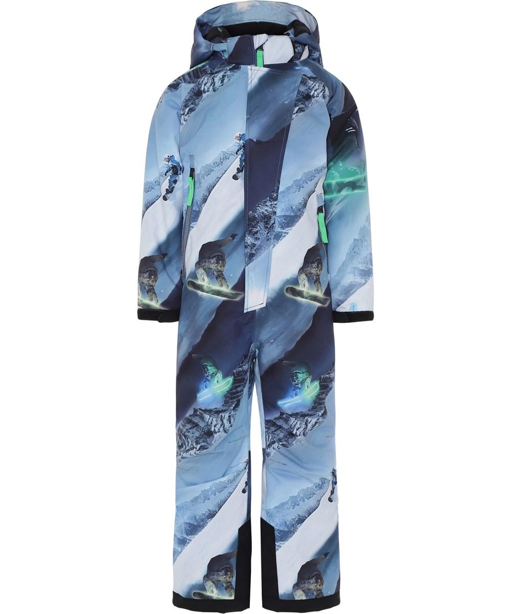 Hux - 24 Hrs - Blå fyverdragt til ski med snowboarders.