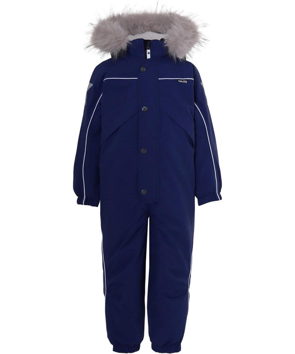 Polaris Fur Recycle - Ink Blue - Recycled blå flyverdragt pelskrave