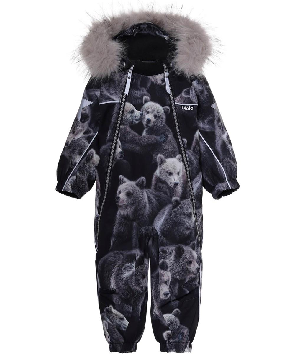 Pyxis Fur - Teddy - Flyverdragt baby bjørne print