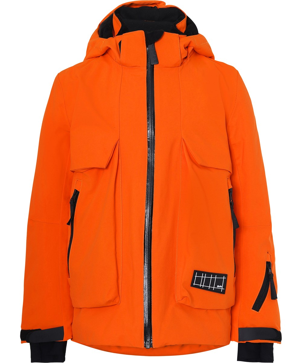 Alpine Recycle - Flame - Recycled orange ski vinterjakke