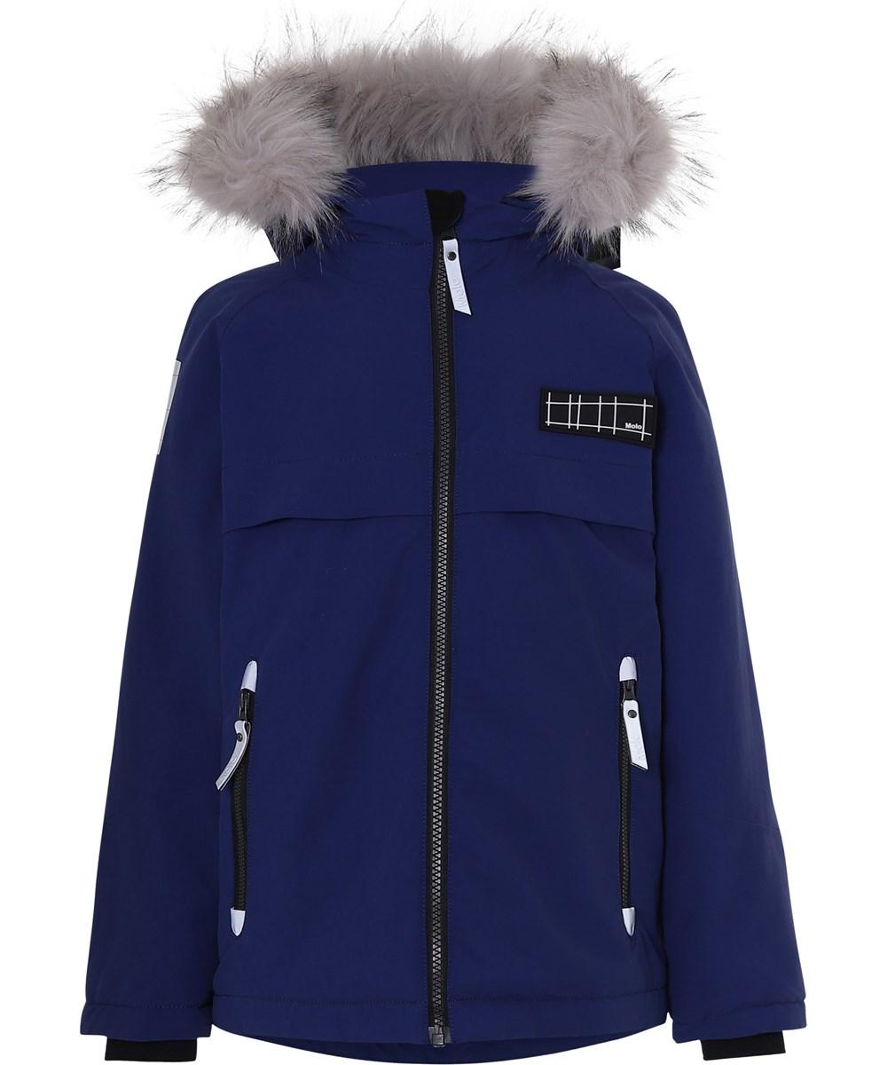 Castor Fur Recycle - Ink Blue - Recycled faux fur blå vinterjakke