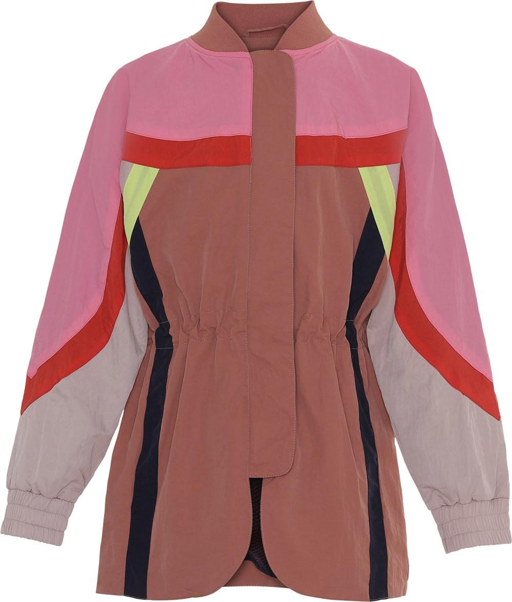 Heather - Cafe Créme - Rosa og pink parka jakke med neon