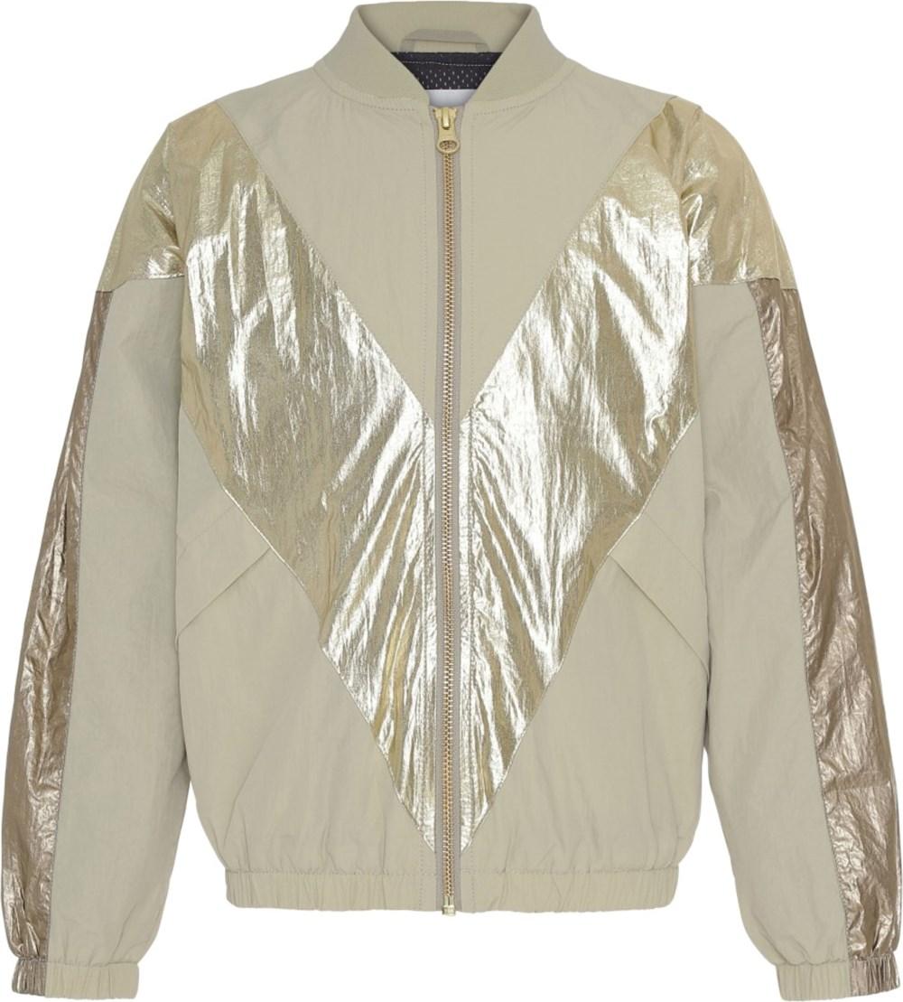 Helsa - Bamboo - Beige jakke med guld