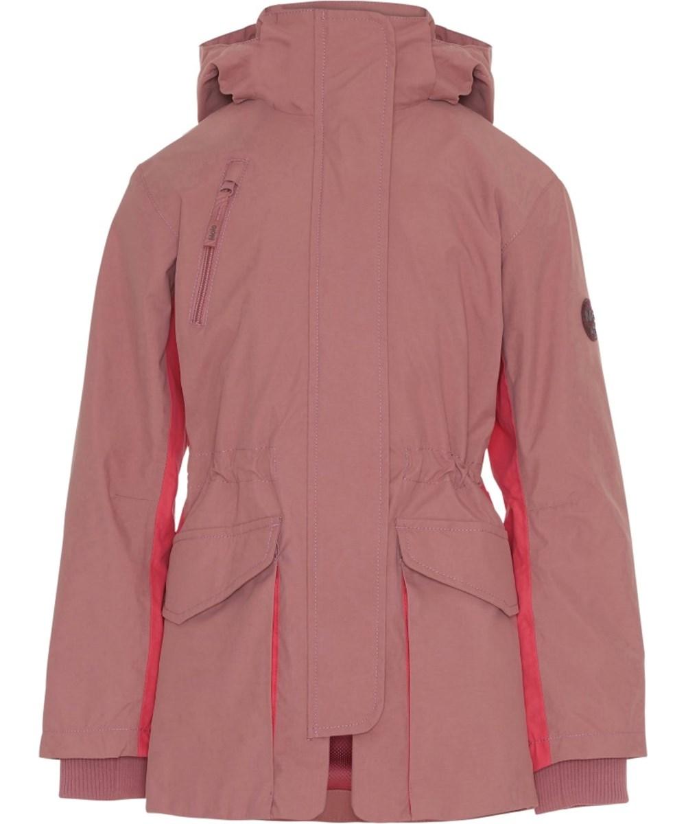 Henrietta - Withered Rose - Rosa og pink parka jakke