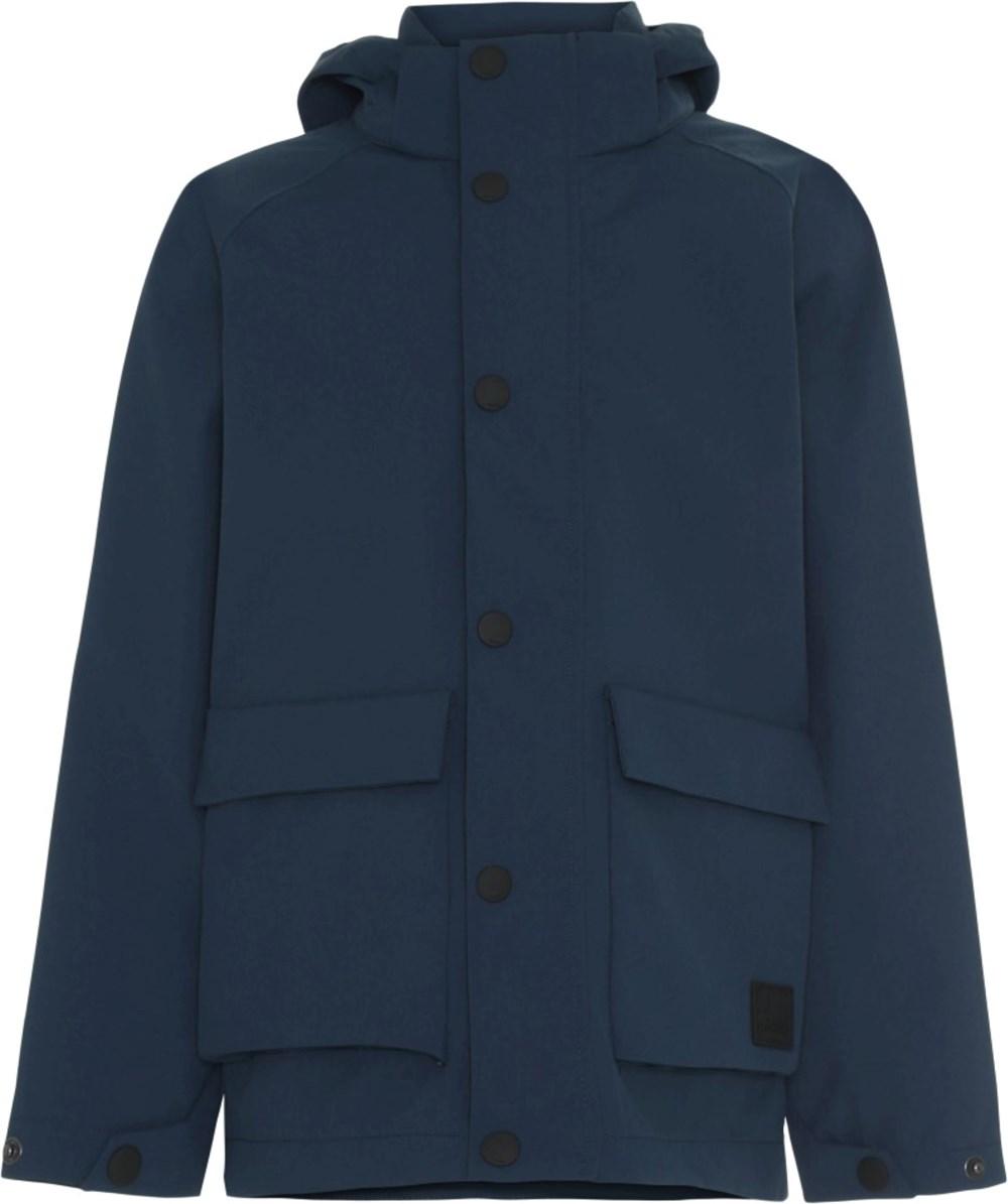 Henson - Moonlit Ocean - Blå jakke med front lommer