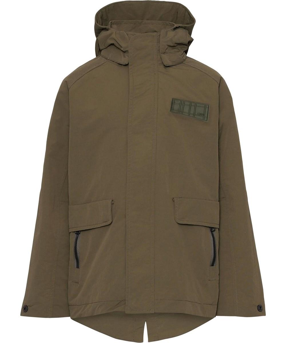 Hood - Vegetation - Khaki grøn overgangs jakke