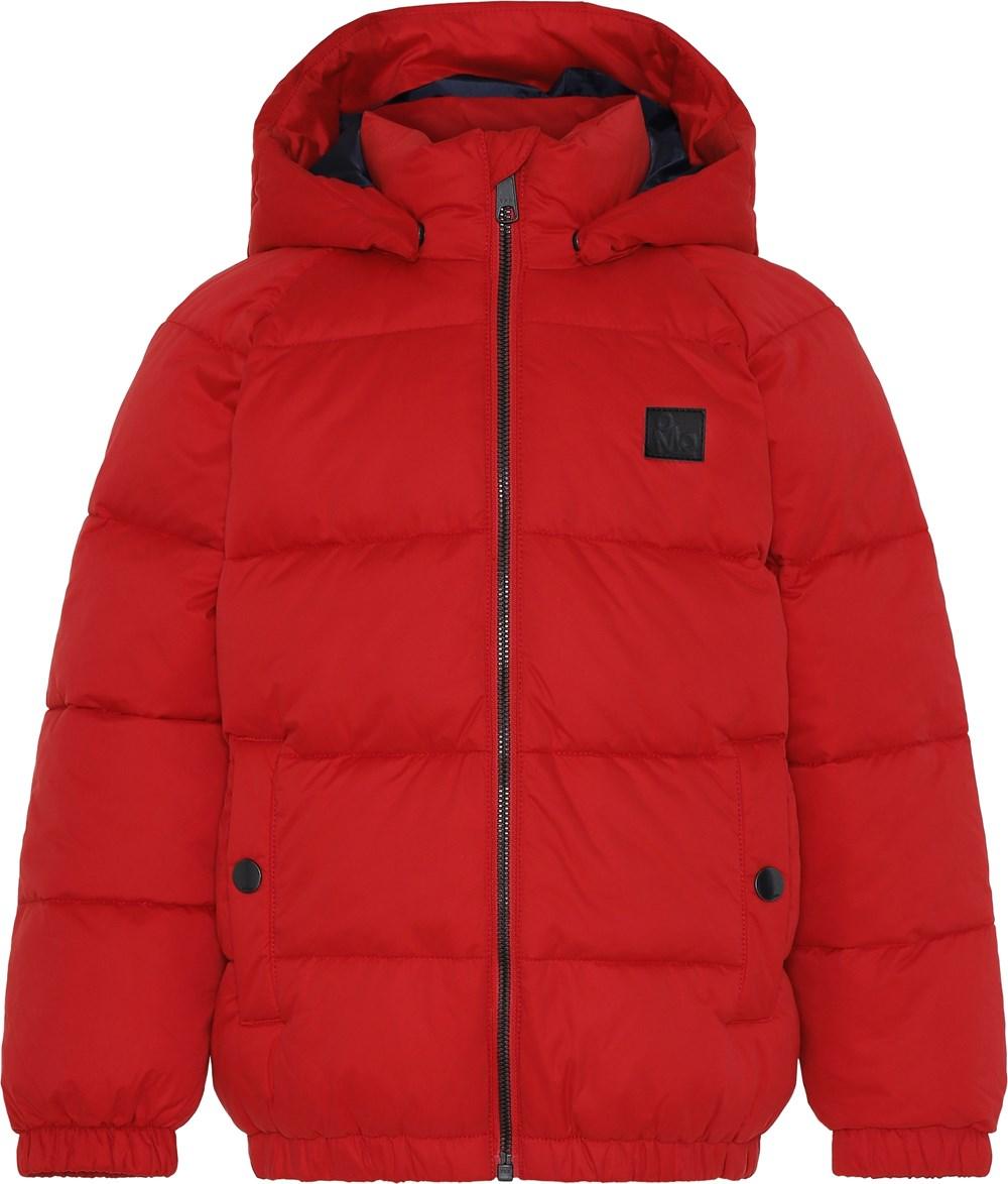 Hugo - Fiery Red - Rød kort vinterjakke.