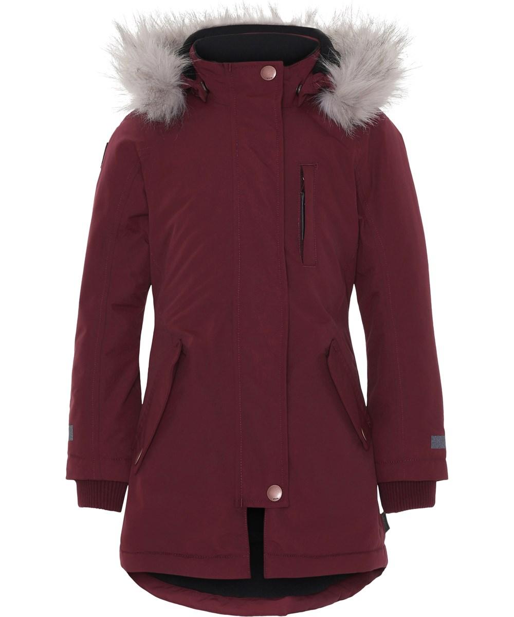 Peace - Carbernet - Boardeux vinterjakke med faux fur pels.
