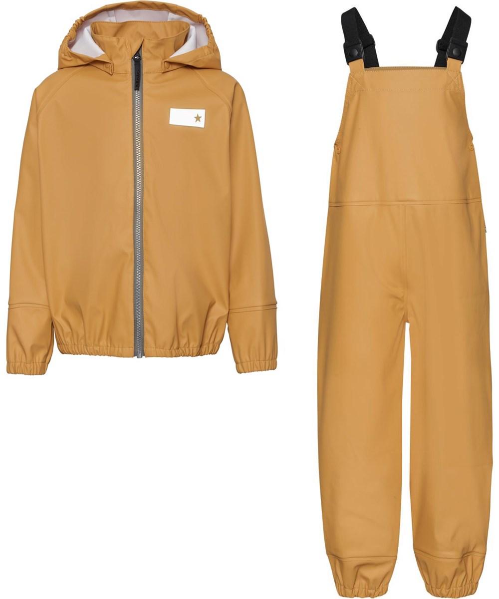 Wade - Honey - Recycled regntøjssæt med overalls