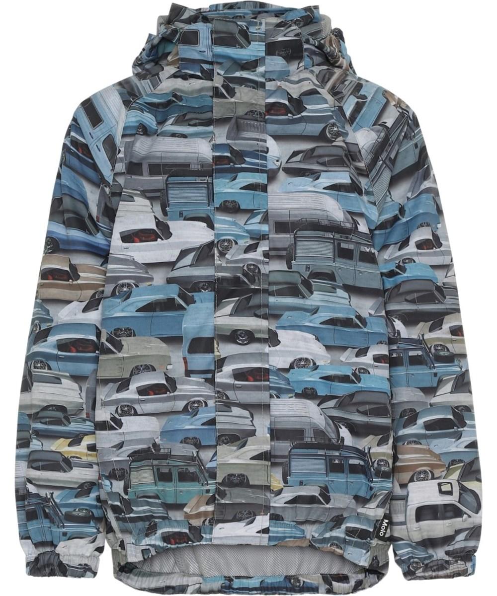 Waiton - Car Jam - Regnjakke med bil print