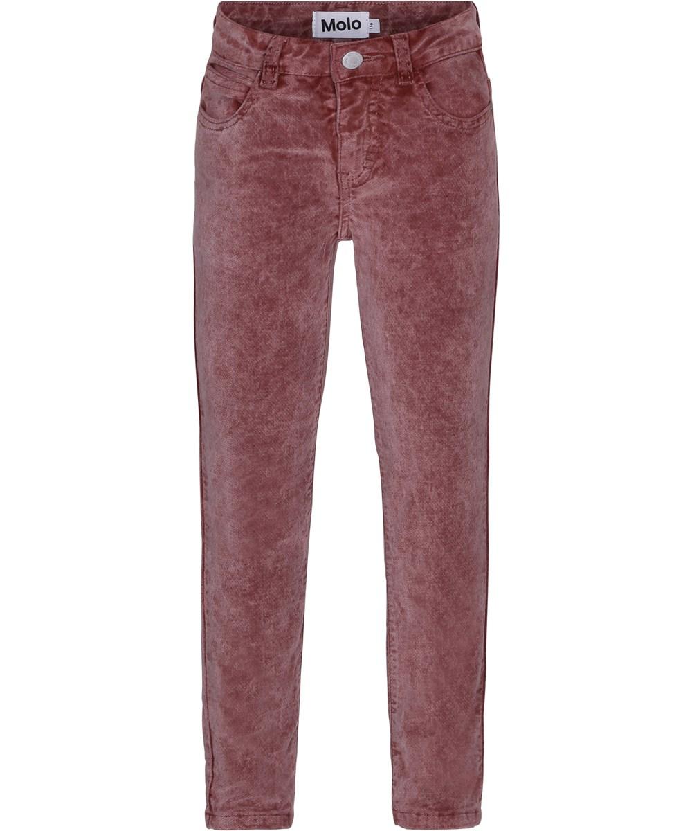Adele - Autumn Berry - Smarte jeans i mørk rosa velour