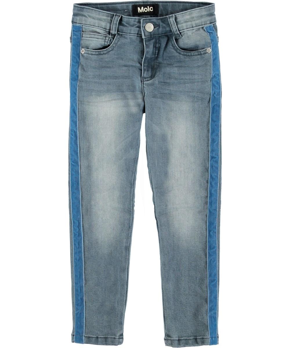 Adele - Cool Washed - Blå jeans med stribe.