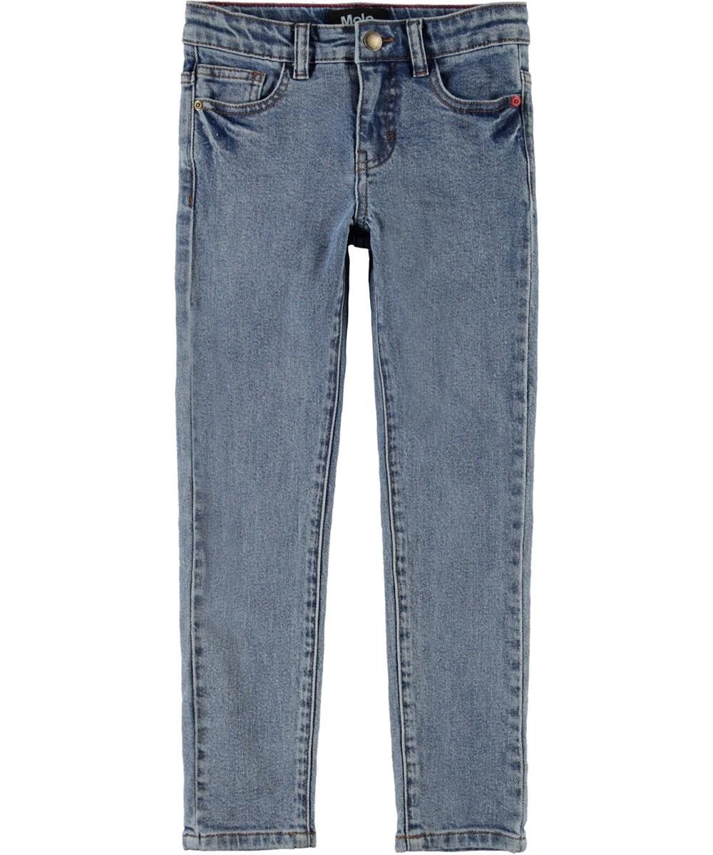 Adele - Stone Blue - Slim lyseblå jeans økologisk bomuld