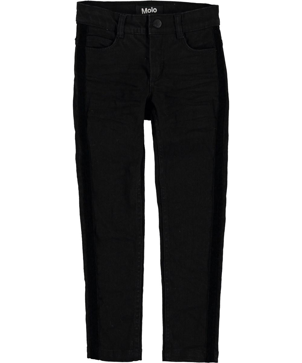 Adele - Black - Sorte slim jeans.
