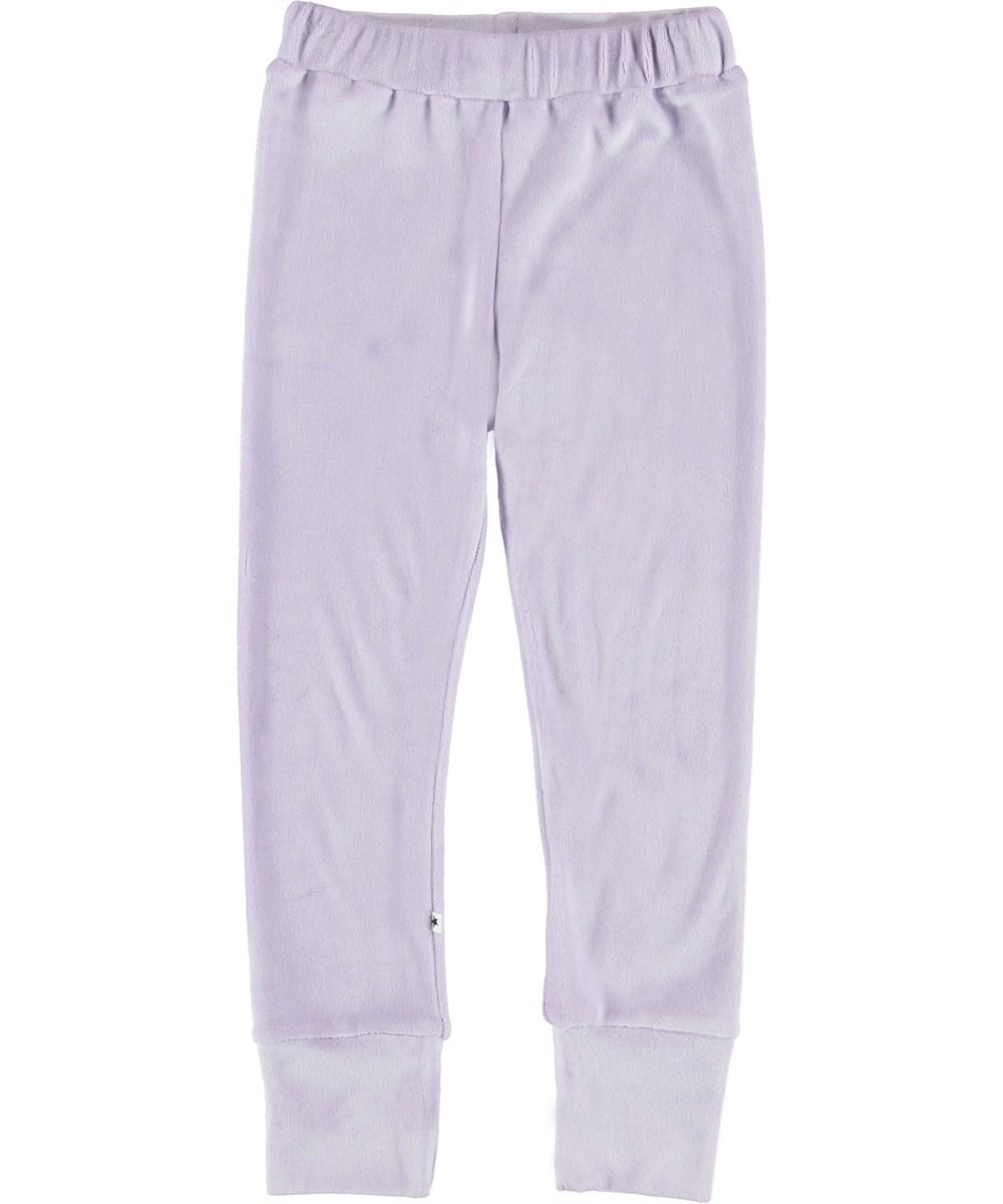 Adinella - Frozen Lilac - Lilla velour bukser.