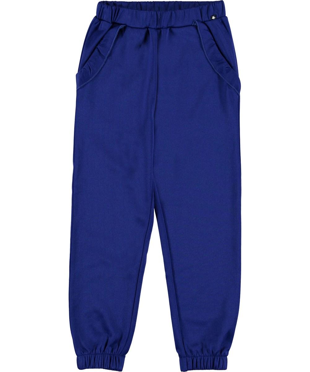 Alexandria - Lapis Blue - Sweatpants blå sporty bukser.