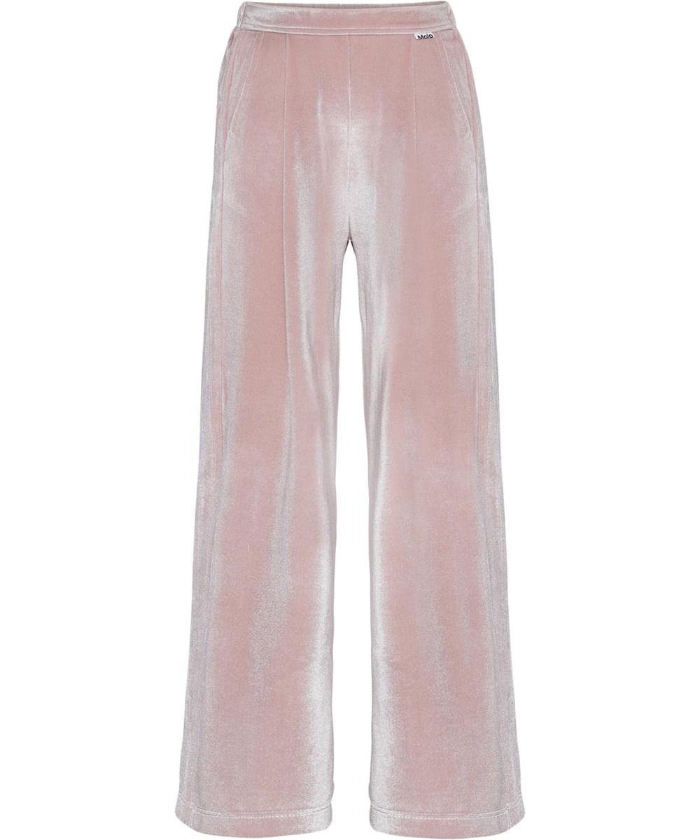 Alfa - Petal Blush - Rosa velour bukser