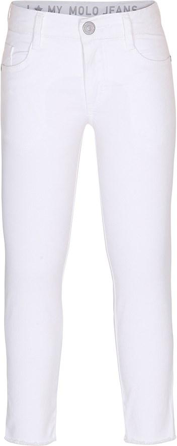Alfi - White - hvide jeans med knap og lommer