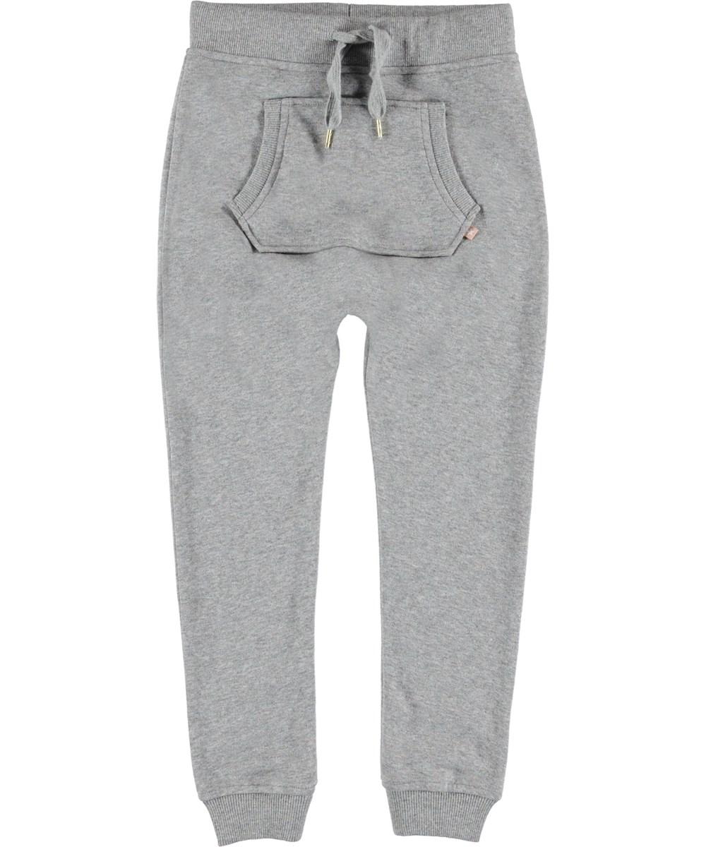 Aliki - Shimmer Grey - Sweatpants grå sporty bukser.