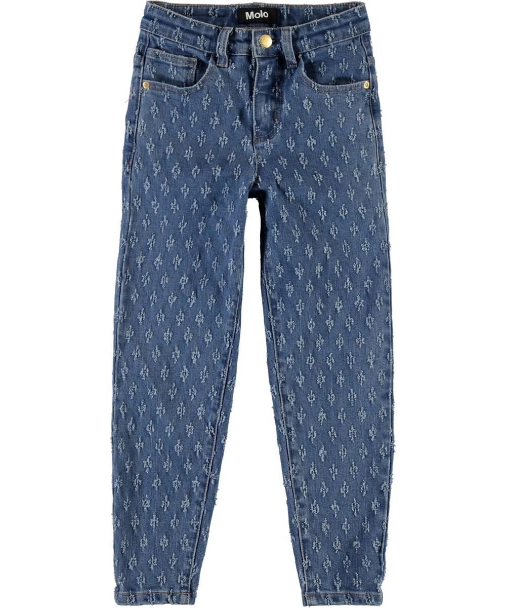 Allis - Washed Mini Holes - Loose fit jeans med hul mønster