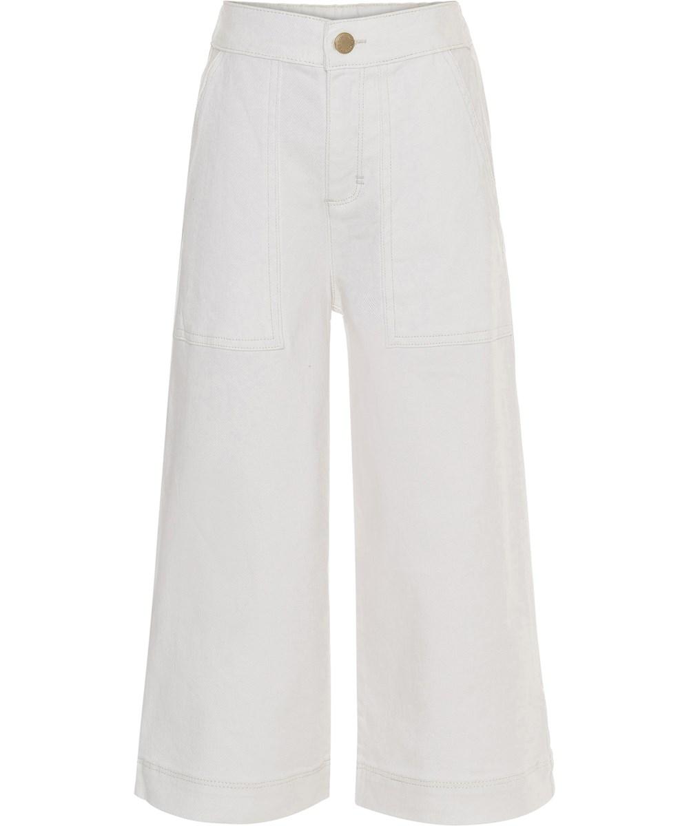 Alyna - White Star - Hvide brede bukser