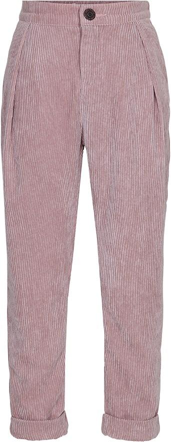 Amelia - Dusty Pink - Løse fløjlsbukser i mørk rosa