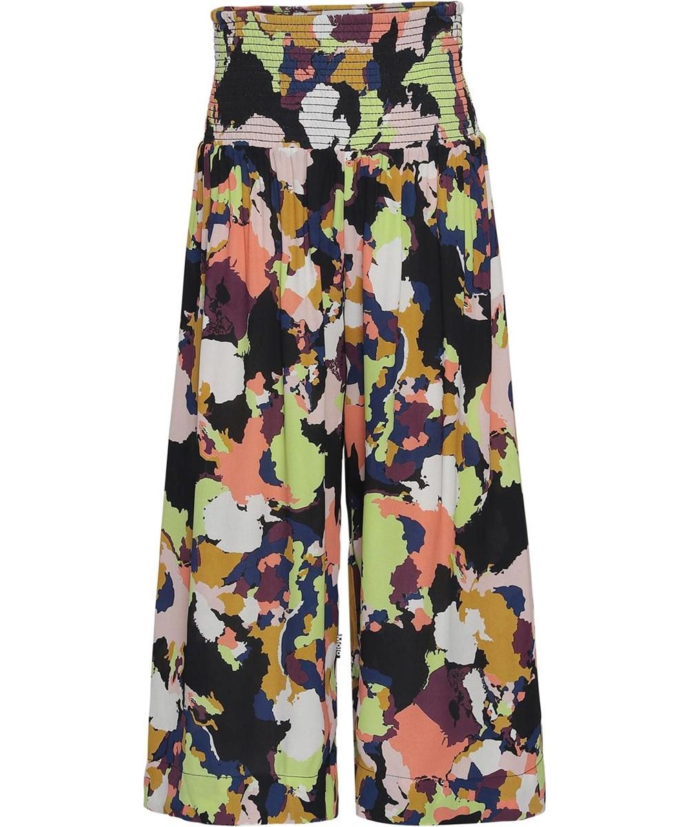 Andrea - Pangea Camo - Løse bukser med farvede felter