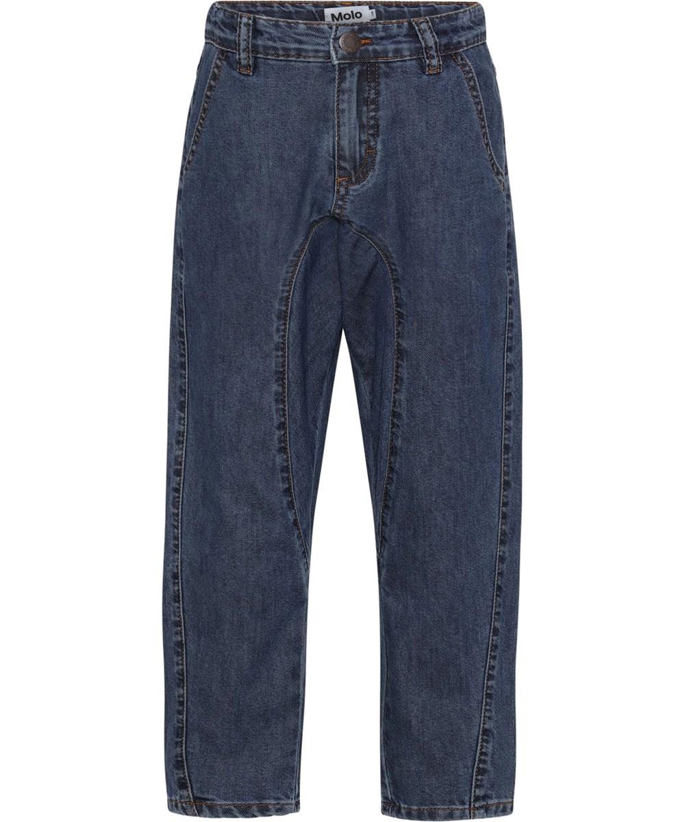 Anouk - Washed Indigo - Løse denim jeans med afslappet look