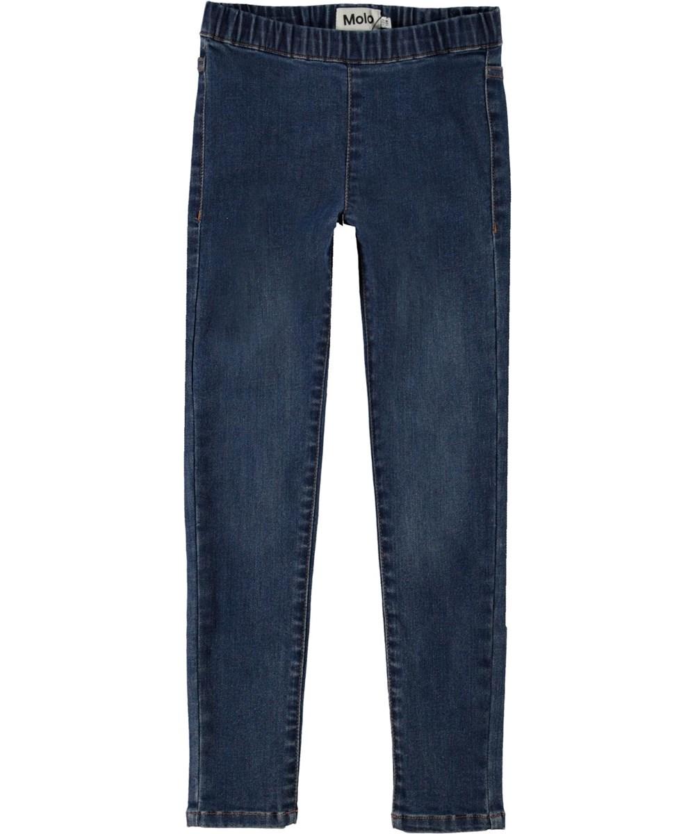 April - Washed Indigo - Jeans leggings i blå