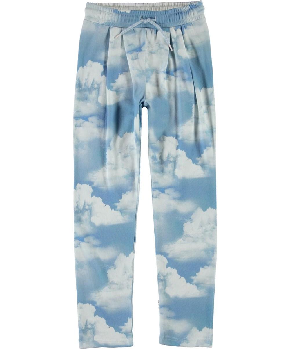 Aurora - Clouds - Økologiske lyseblå sweatpants med skyer