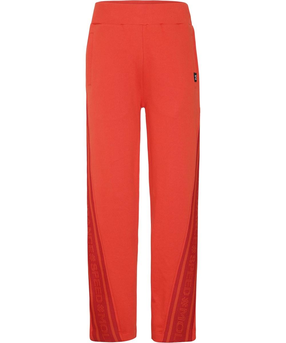 Ozella - Coral Red - Røde sporty sweatpants
