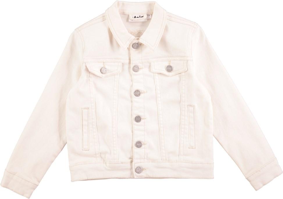 Hattie - White Star - Hvid denim jakke med knapper