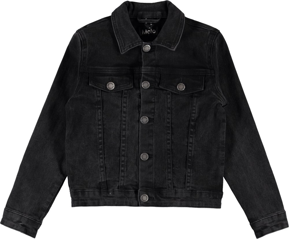 Heidi - Washed Black - Sort denim jakke