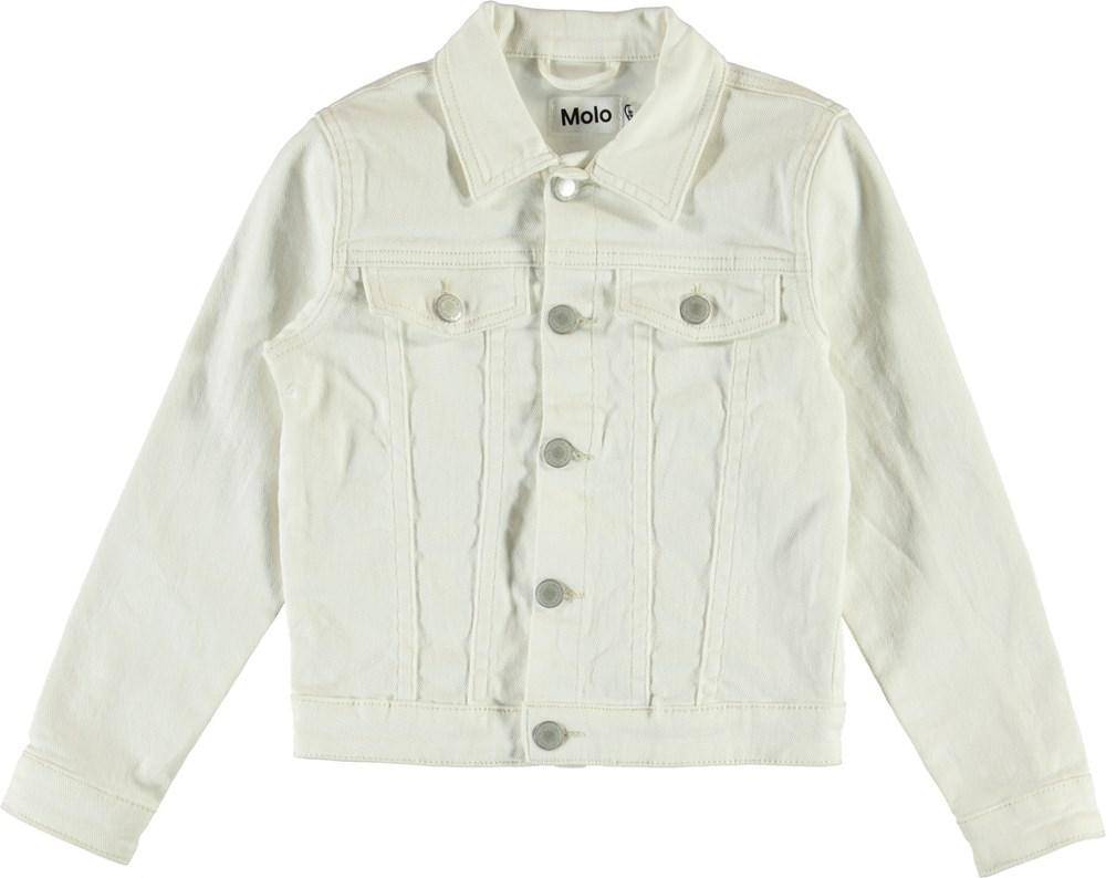 Heidi - White Star - Hvid denim jakke