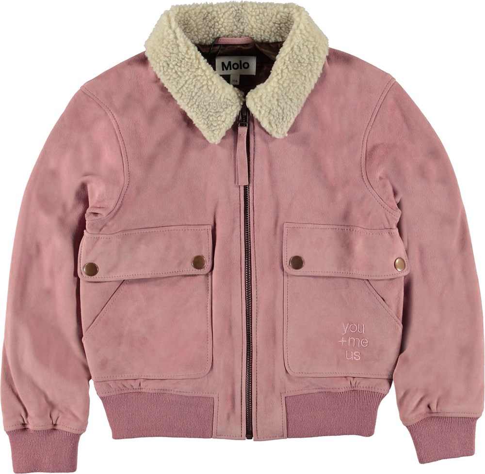 Hester - Purple Haze - Rosa jakke i ruskind.