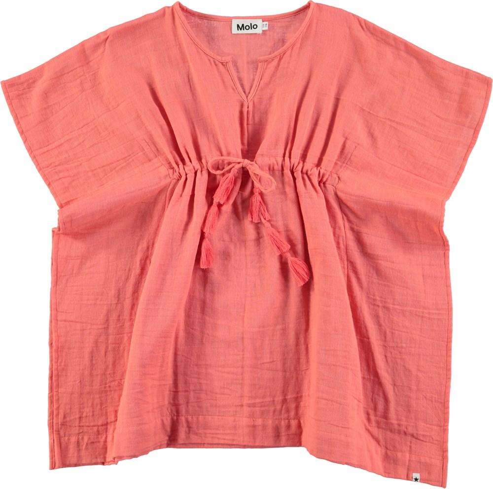 Caly - Georgia Peach - Ferskenfarvet tunika med kvaster