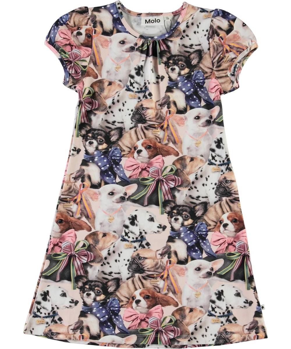 Camellia -  Puppy Love - Økologisk kjole med print af hunde