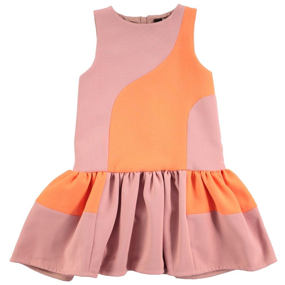 Canal - Spicy Pink - orange og lyserød kjole