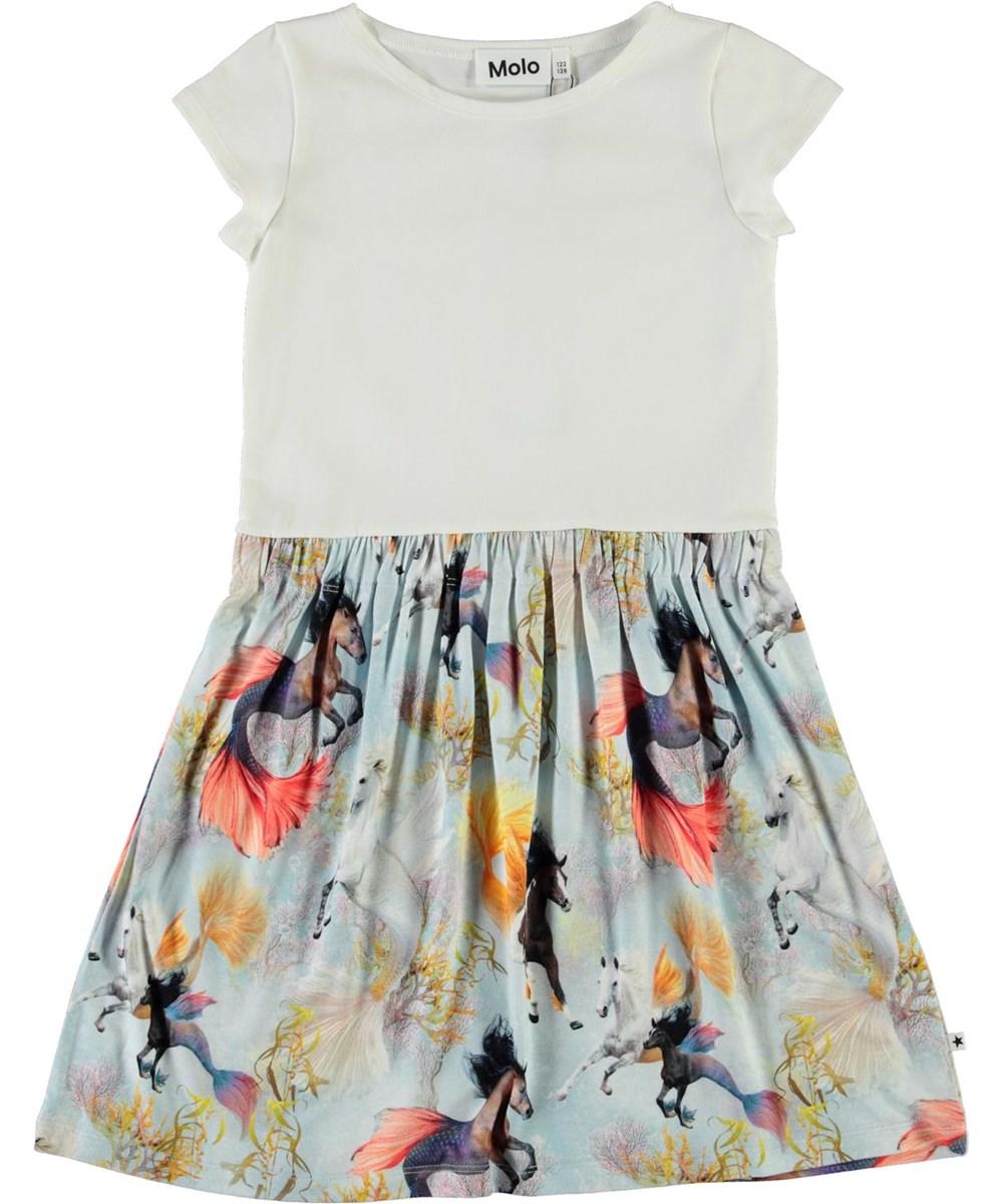 Carla - Horses Of The Sea - T-shirt kjole med hesteprint