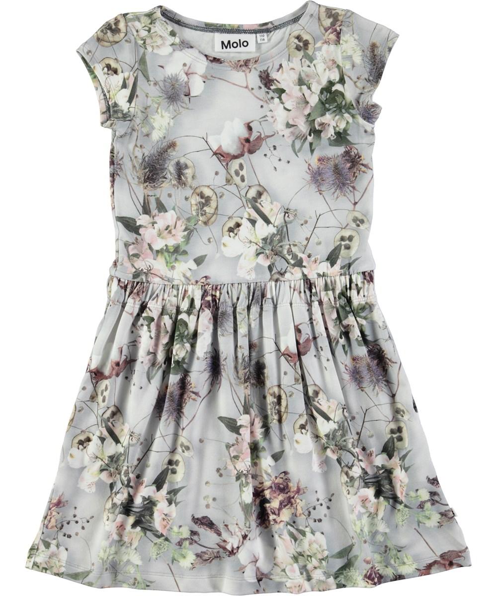 829fa958 Carla - X-Ray Bloom - Kortærmet kjole med digitalprintede blomster ...